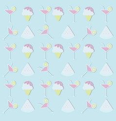Pattern background for summer summer party vector