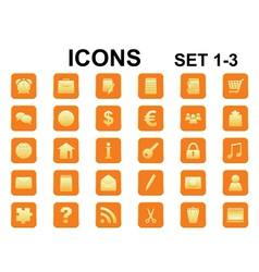 square icons with rounded corners vector image vector image
