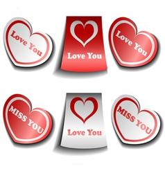 Valentine sticker set vector image vector image
