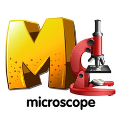 A letter M for microscope vector