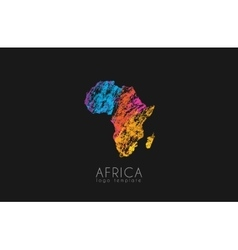 Abstract africa logo Color Africa logo Colorful vector image