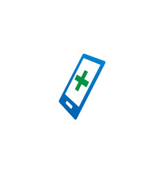 abstract mobile phone logo and icon design vector image