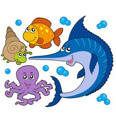 Aquatic animals collection 3 vector