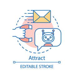 Attract concept icon inbound marketing method vector