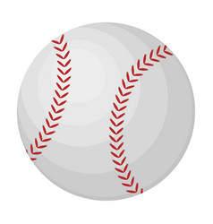 Ball for baseball baseball single icon in cartoon vector