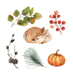 Beautiful creative autumn watercolor design vector