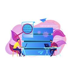 Big data programming concept vector