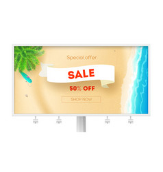 billboard for actions sales sale get up to 50 vector image
