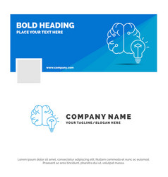 blue business logo template for idea business vector image