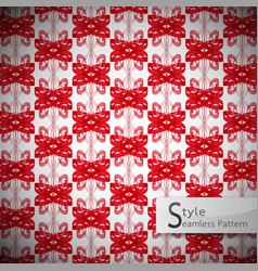 bow ribbon red mesh vintage geometric seamless vector image