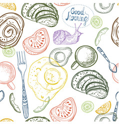 breakfast time pattern vector image