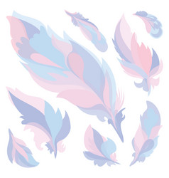 candy color feathers vector image