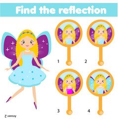 children educational game matching pairs find vector image