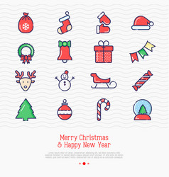 christmas and new year celebration set vector image
