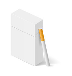 closed full pack of cigarettes concept design vector image