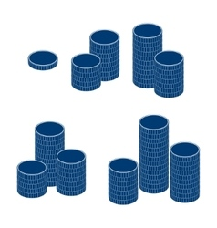coin stack money pile vector image