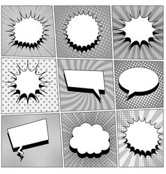 Comic book page backgrounds set vector