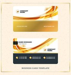 Creative golden business visiting card design vector