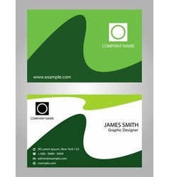 Creative green business cards vector