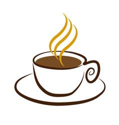 cup of coffee symbol vector image