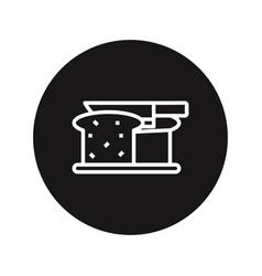 cut bread icon vector image