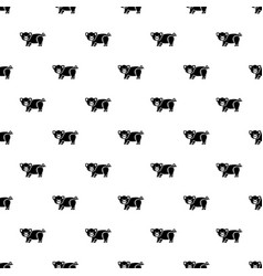 cute pig pattern seamless vector image