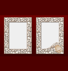 decorative photo frames template set vector image