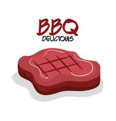 Delicious meat beef bbq menu vector