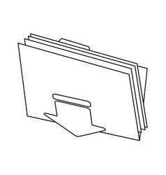 Download file folder icon image vector