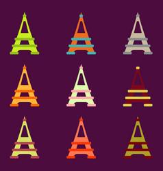 Eiffel tower set vector