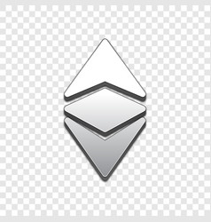 ethereum classic trendy 3d style icon vector image