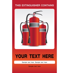 Fire Extinguisher Safety Background vector