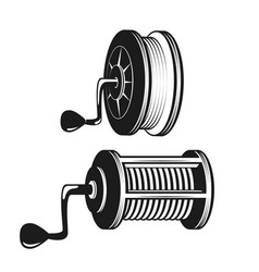 fishing reel silhouette vector image