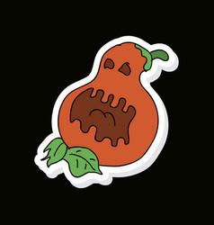 Flat icon halloween emotion pumpkin vector