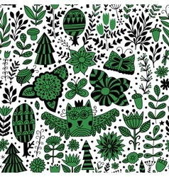 forest design floral seamless pattern vector image