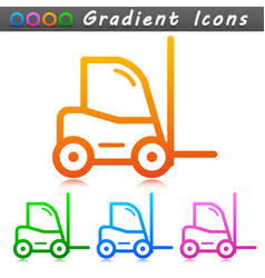forklift sign symbol icons vector image