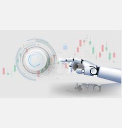 Futuristichand robot security controls futuristic vector