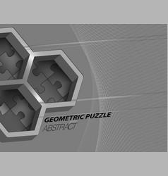 Geometric puzzle vector