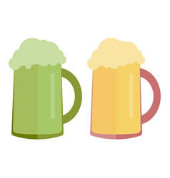 glass beer icon flat style isolated on white vector image