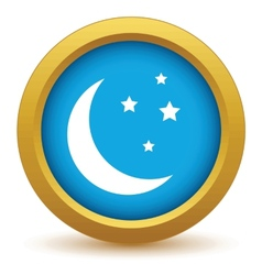 Gold moon icon vector image