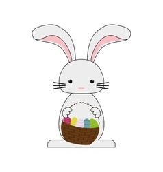 Happy easter bunny cartoon vector image