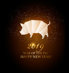 happy new year 2019 background year of the pig vector image