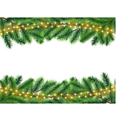 holidays background with realistic fir branches vector image