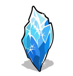 Ice crystal isolated on white background vector