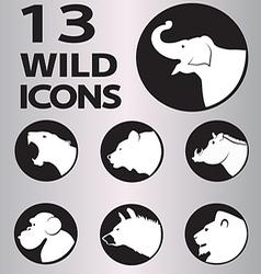 Icon wild vector