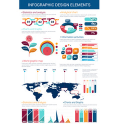 infographic design element with graph and chart vector image