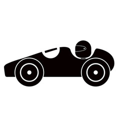 isolated old racing car icon vector image