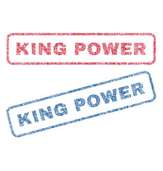 King power textile stamps vector