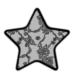 Lace star applique vector