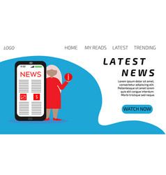 Landing news pages latest news vector